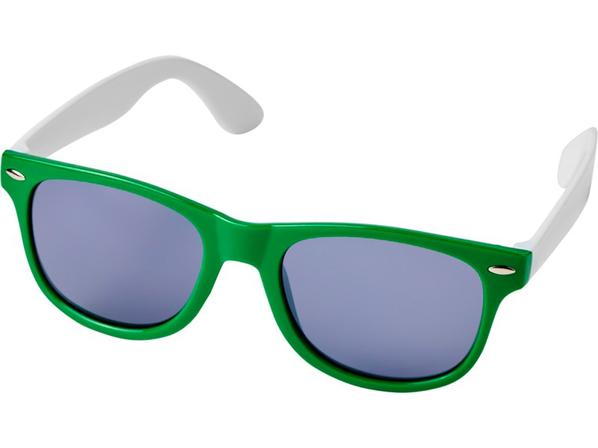 Очки солнцезащитные Sun Ray в стиле ретро, зеленые - фото № 1