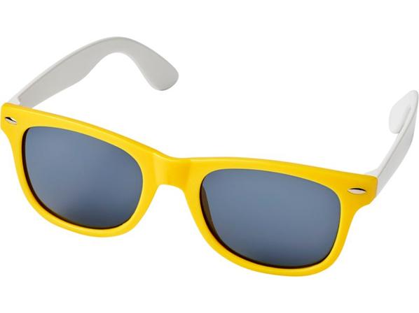 Очки солнцезащитные Sun Ray в стиле ретро, желтые - фото № 1
