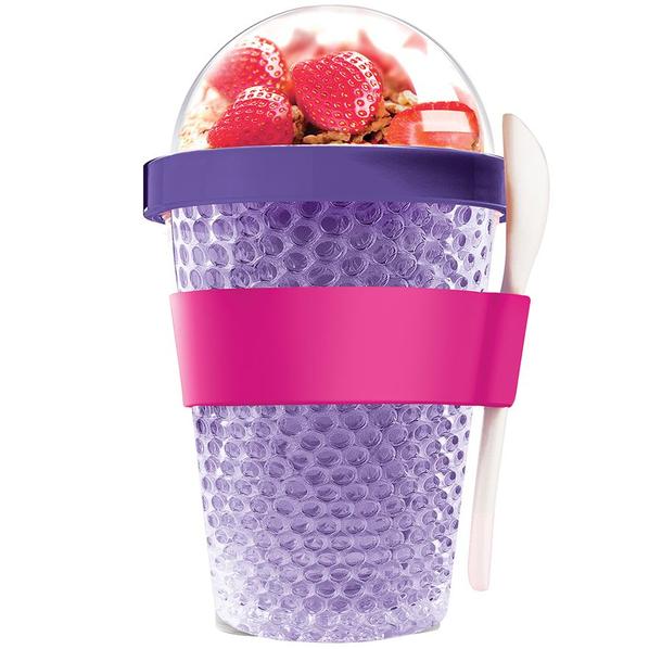 Охлаждающий контейнер Chill Yo 2 Go, фиолетовый - фото № 1