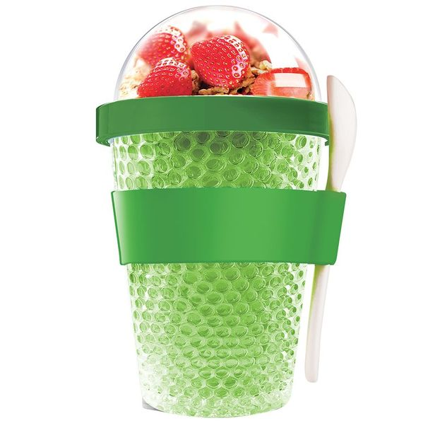 Охлаждающий контейнер Chill Yo 2 Go, зеленый - фото № 1