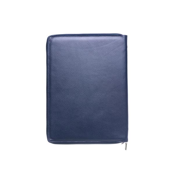 Органайзер для документов двойной на молнии, синий - фото № 1