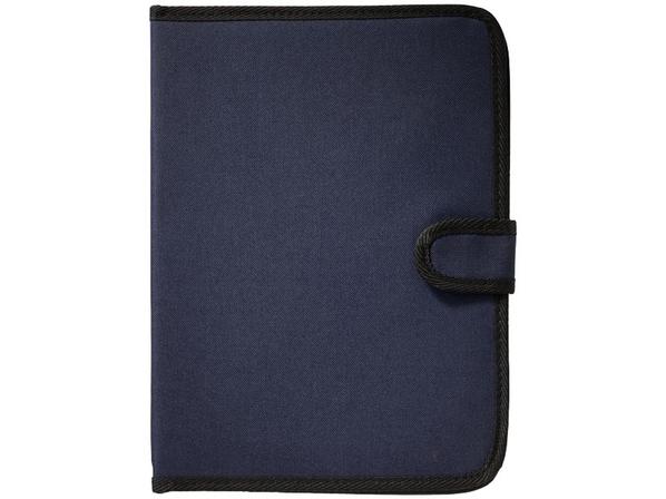 Папка А4 University на липучке с держателем для ручки, карманом для документов и блокнотом с 20 стр, темно-синий - фото № 1