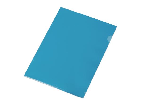 Папка уголок А4, синяя - фото № 1