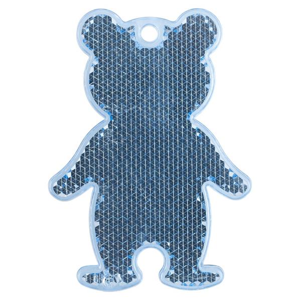 Пешеходный светоотражатель Мишка, синий - фото № 1