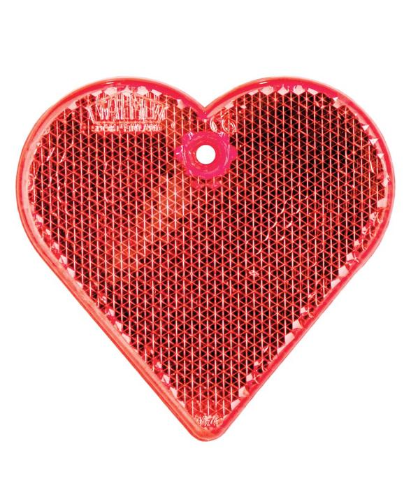 Пешеходный светоотражатель Сердце, красный - фото № 1