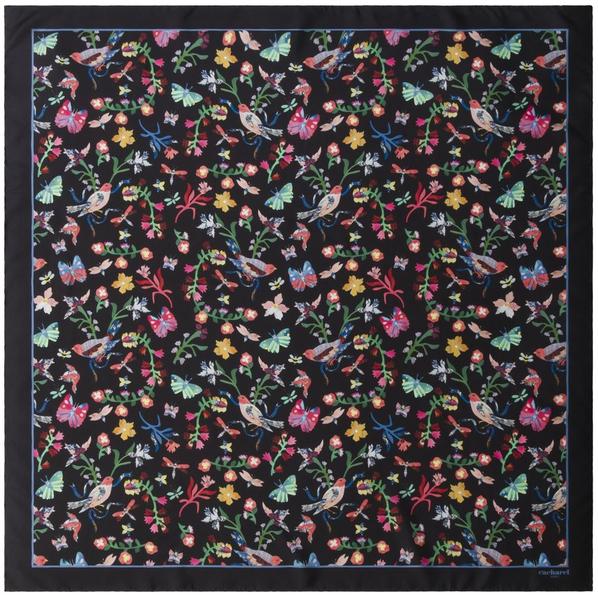 Платок Cacharel Butterfly Silk, черный - фото № 1