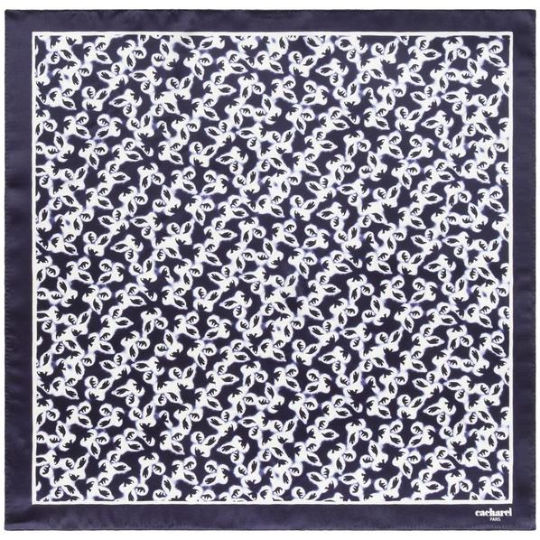 Платок Cacharel Hirondelle Silk, темно-синий - фото № 1