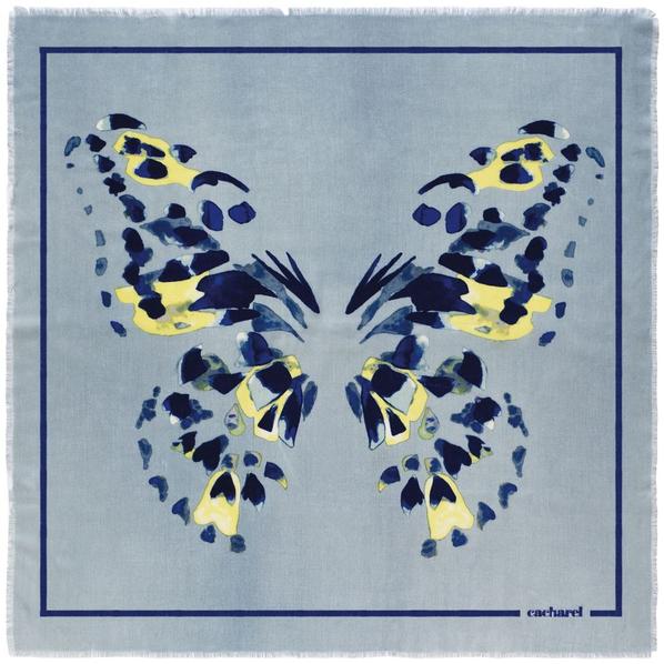 Платок Cacharel Madeleine, голубой - фото № 1