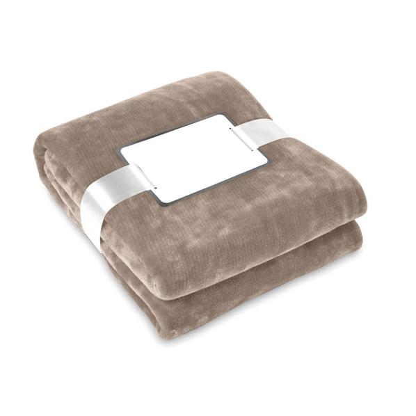 Плед флисовый 180 г/м2, коричневый - фото № 1