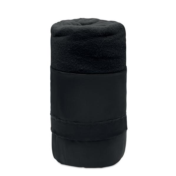 Плед флисовый Musala, черный - фото № 1