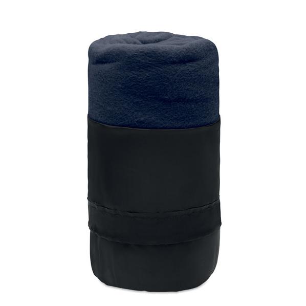 Плед флисовый Musala, черный/ темно-синий - фото № 1