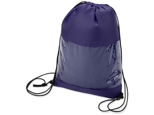 Плед флисовый в рюкзаке, синий - фото № 1