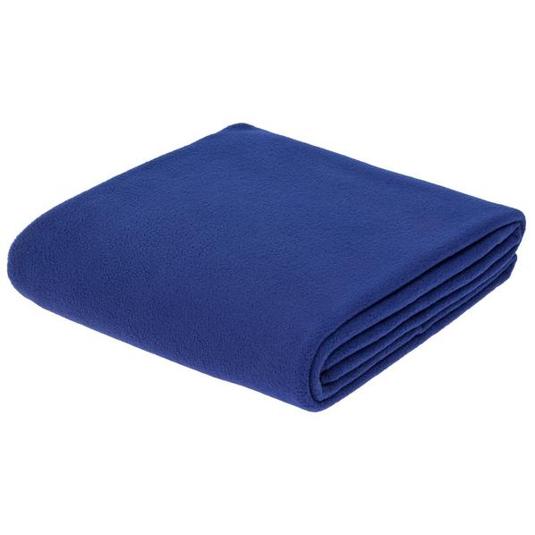 Плед флисовый Warm&Peace XL, ярко-синий - фото № 1