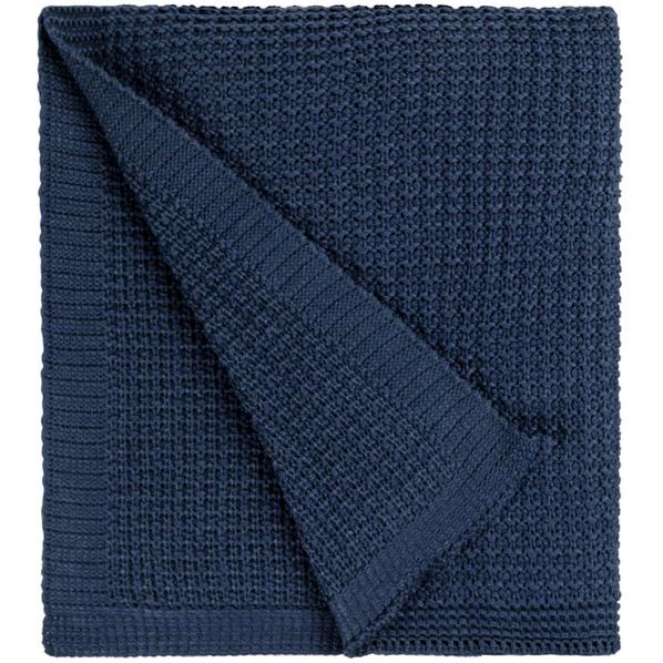Плед teplo Lattice, синий - фото № 1