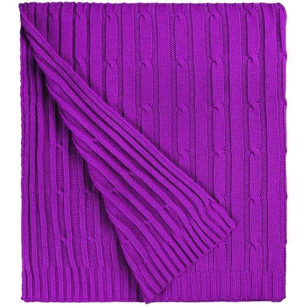 Плед акриловый Remit, фиолетовый - фото № 1