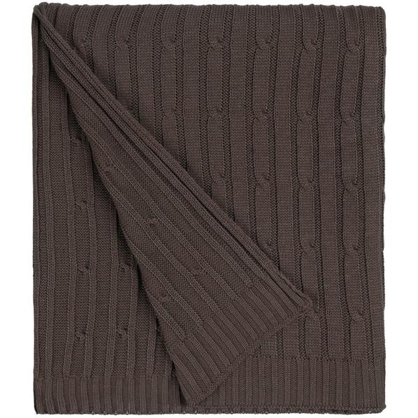 Плед Remit, коричневый меланж - фото № 1