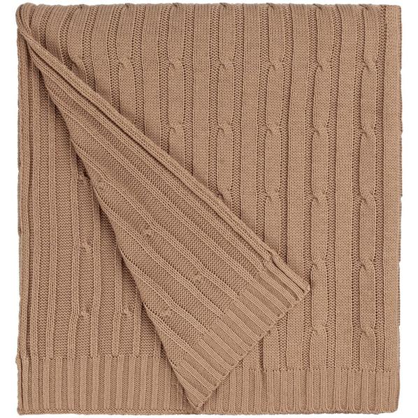 Плед акриловый Remit, песочный - фото № 1