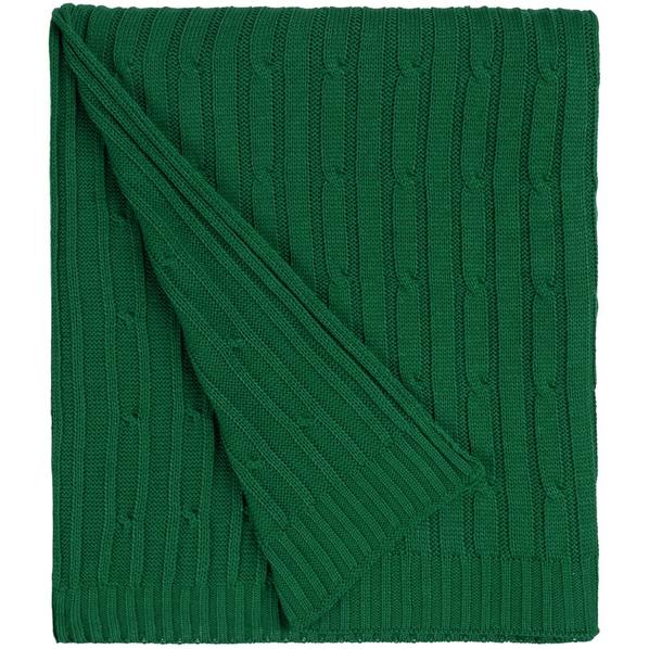 Плед акриловый Remit, темно-зеленый - фото № 1