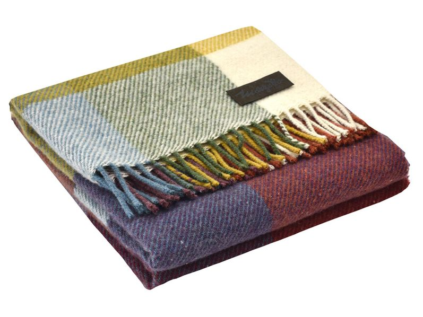 Плед шерстяной Marzotto Arequipa, разноцветный - фото № 1