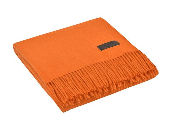 Плед шерстяной Marzotto Dalia, оранжевый - фото № 1