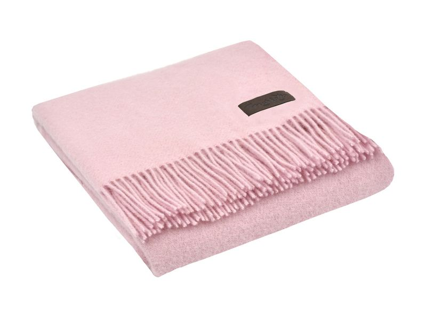 Плед шерстяной Marzotto Dalia, розовый - фото № 1