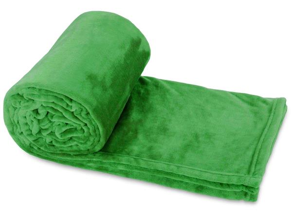 Плед Тедди, зеленый - фото № 1