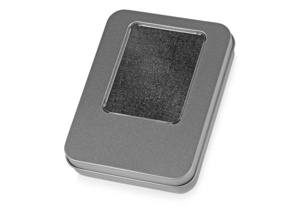 Подарочная коробка для флешки Сиам с поролоновой вставкой, серый - фото № 1