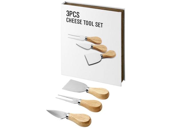 Подарочный набор для сыра и вина Nantes 3 предмета, серый, бежевый - фото № 1