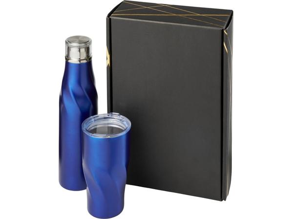 Подарочный набор Hugo: бутылка для воды, термокружка, синий - фото № 1