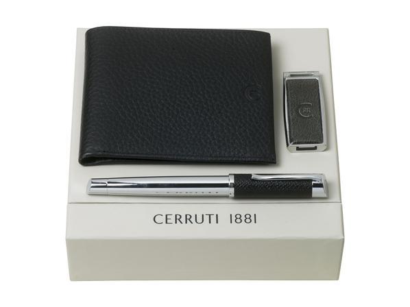 Подарочный набор: портмоне, USB-флешка на 16 Гб, ручка роллер, чёрный - фото № 1