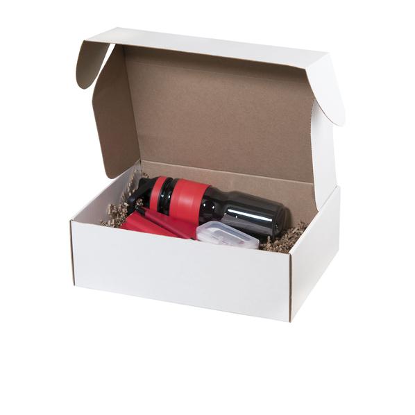 Набор подарочный Portobello Spark: спортивная бутылка, ежедневник недатированный А5, ручка шариковая, внешний аккумулятор 2000 мАч, флешка 16 Гб, красный - фото № 1
