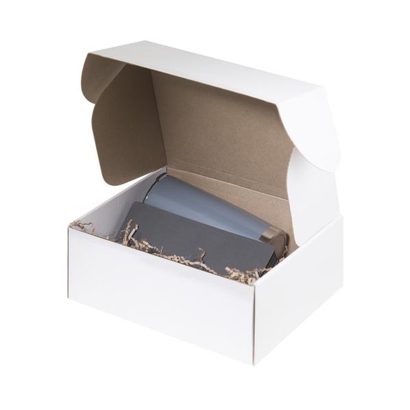 Набор подарочный Portobello: термокружка, ежедневник недатированный А5, серый - фото № 1
