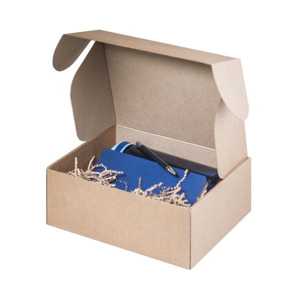 Набор подарочный Portobello: спортивная бутылка, ежедневник недатированный А5, ручка шариковая, синий - фото № 1