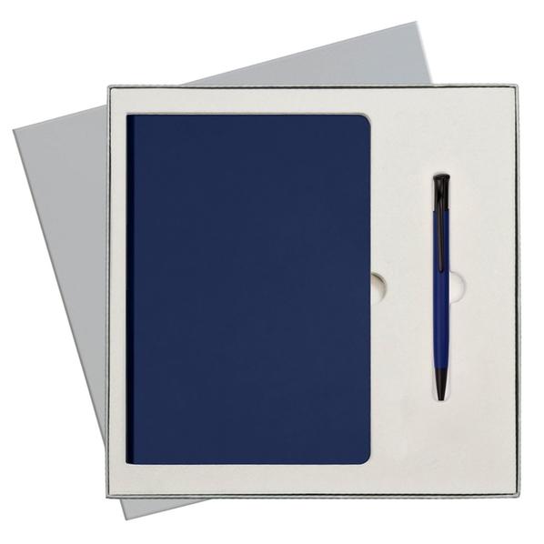 Набор подарочный Portobello Spark: ежедневник недатированный A5, ручка автоматическая, синий - фото № 1