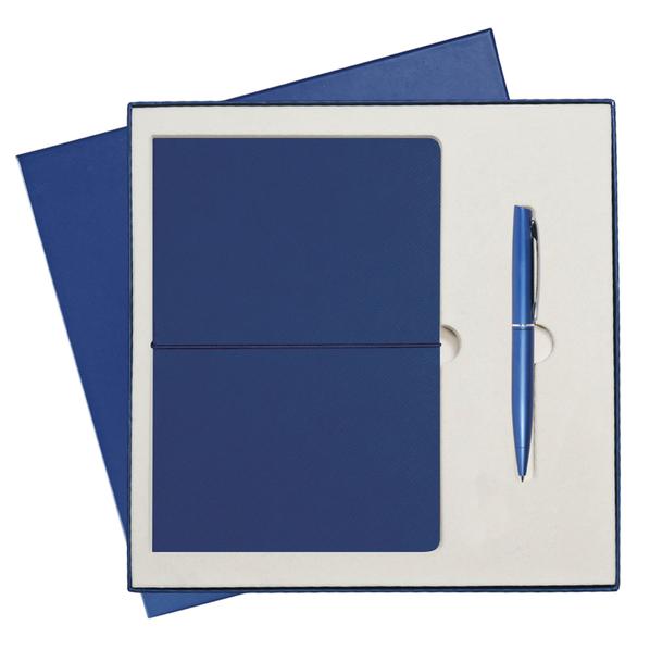 Подарочный набор Portobello Summer time: Ежедневник недатированный А5, Ручка, синий - фото № 1