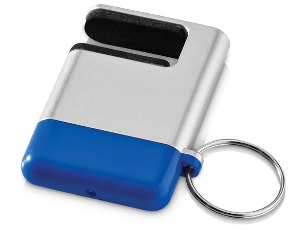 Брелок / подставка для телефона с губкой для чистки экрана GoGo, синий - фото № 1