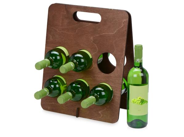 Подставка под винные бутылки Groot, коричневая - фото № 1