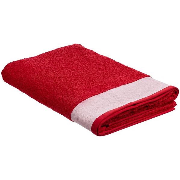 Полотенце Etude, большое, красное - фото № 1