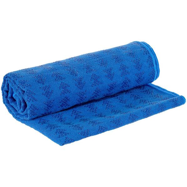 Полотенце-коврик для йоги Stride Zen, синее - фото № 1