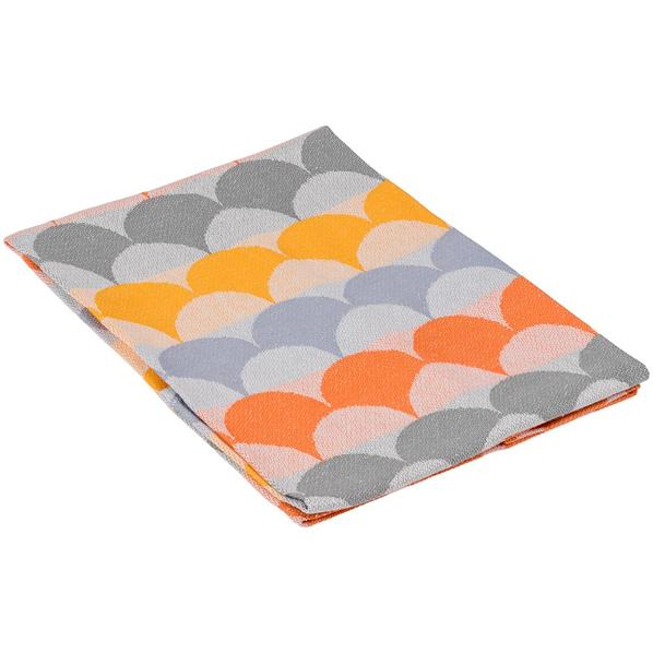 Полотенце кухонное Lamella, серое / оранжевое - фото № 1