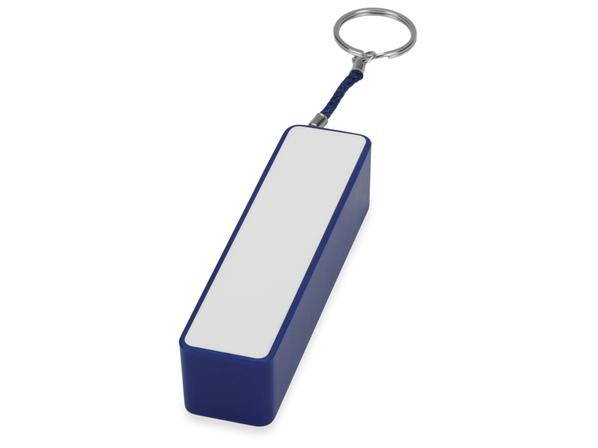 Зарядное устройство портативное прямоугольное, 2200 mAh, синее/белое - фото № 1
