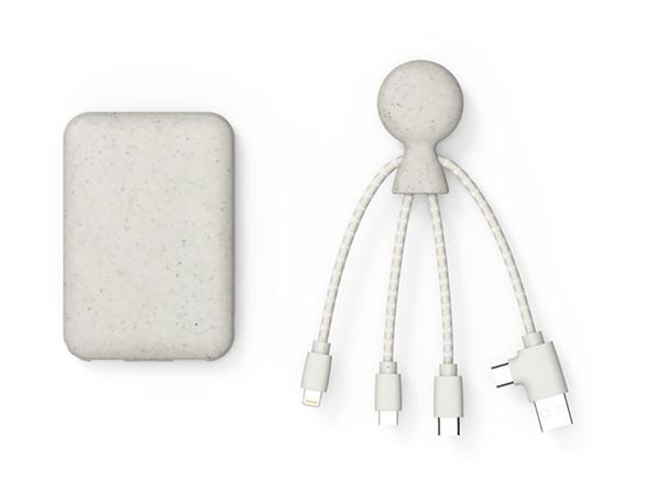 Зарядное устройство Xoopar BioPack Mr. Bio, 5000 mAh, белое - фото № 1