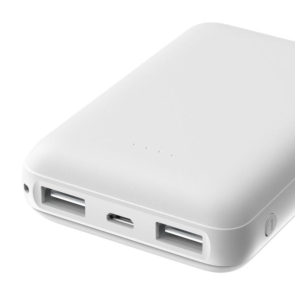 Внешний аккумулятор Olmio Mini 10, 10000 mAh, белый - фото № 1