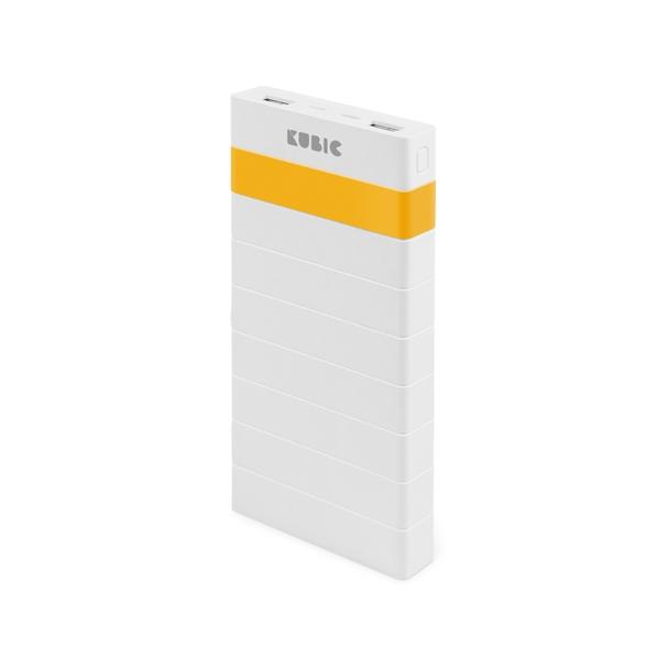 Внешний аккумулятор Kubic PB14L, 14000 mAh, белый/желтый - фото № 1