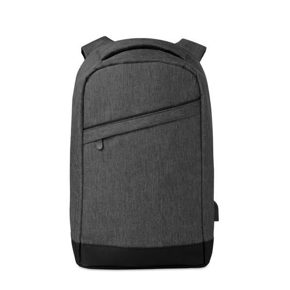 """Рюкзак для ноутбука 13"""" Berlin, серый меланж/ черный - фото № 1"""