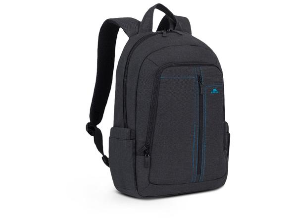 Рюкзак для ноутбука 15.6'' RIVACASE с панелью-органайзером, черный - фото № 1