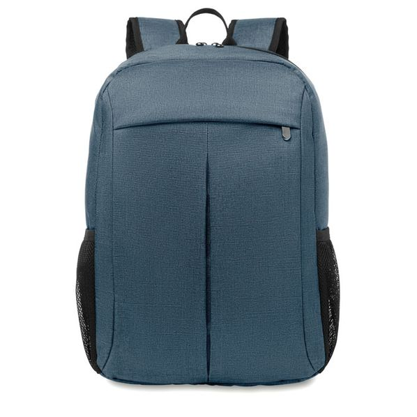 Рюкзак для ноутбука, внешний карман на молнии, синий - фото № 1