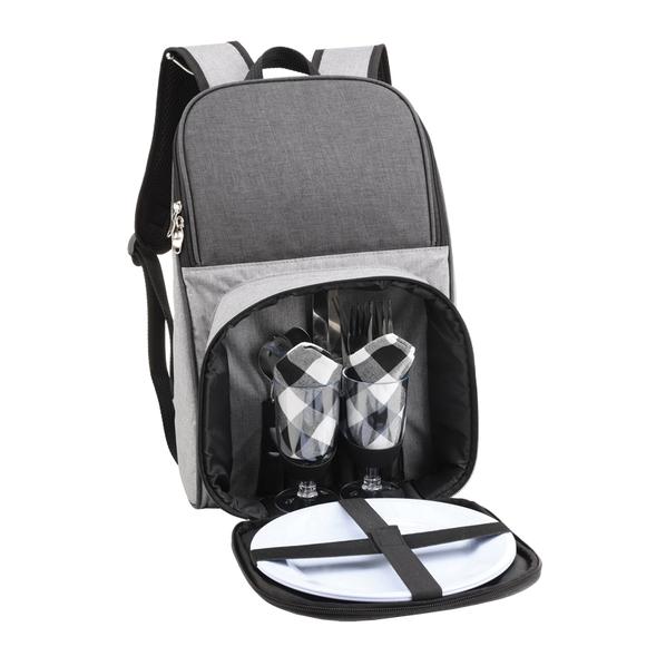"""Рюкзак для пикника """"Кения"""", серый - фото № 1"""