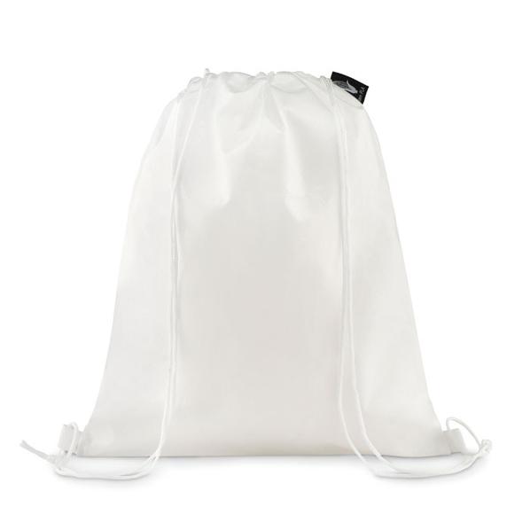 Рюкзак из экоматериала со шнурками, белый - фото № 1
