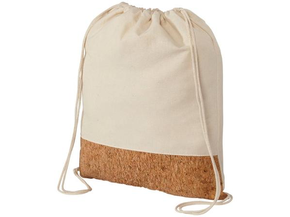 Рюкзак из хлопка и пробки, коричневый, бежевый - фото № 1